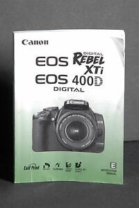 canon eos rebel xti 400d manual