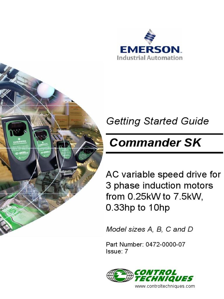 emerson commander sk ac drive manual pdf