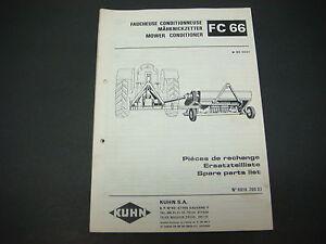 kuhn fc 300 parts manual