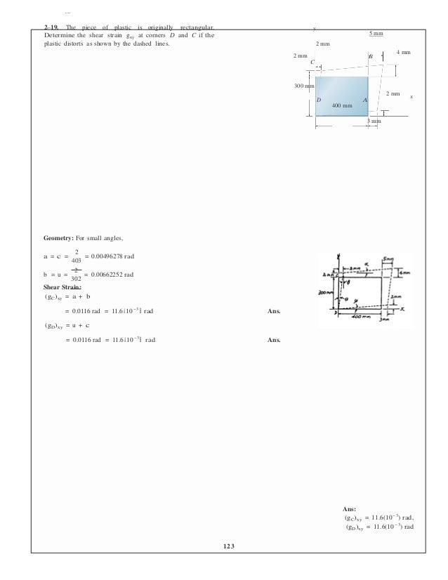 mechanics of materials hibbeler 9th edition solution manual slideshare