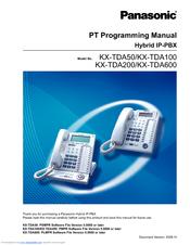 panasonic hybrid phone system programming manual