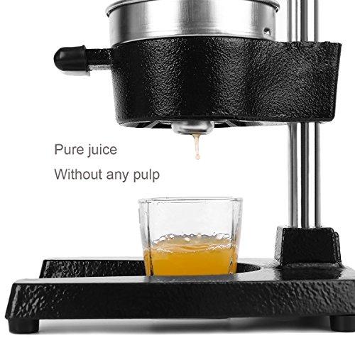 manual citrus juicer stainless steel