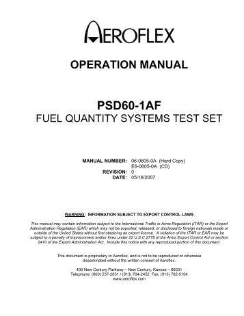ifr 6000 test set manual