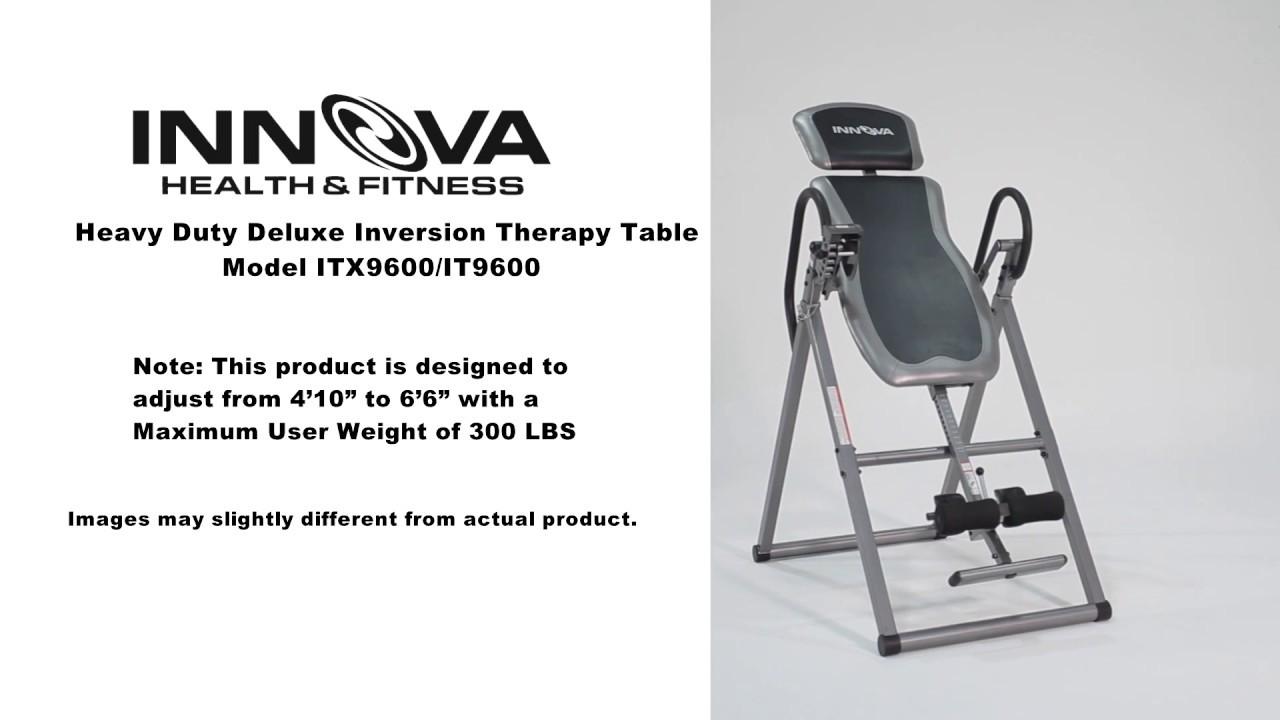 innova inversion table itx9600 manual
