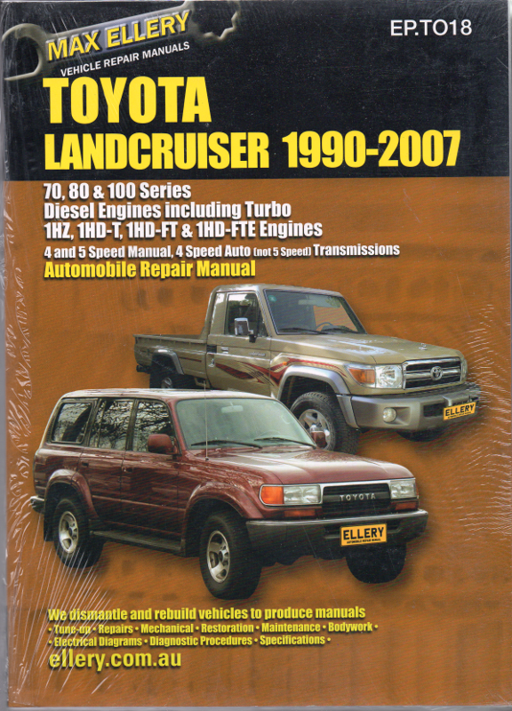 toyota landcruiser 105 series workshop manual free download