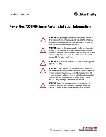 powerflex 70 communication adapter user manual