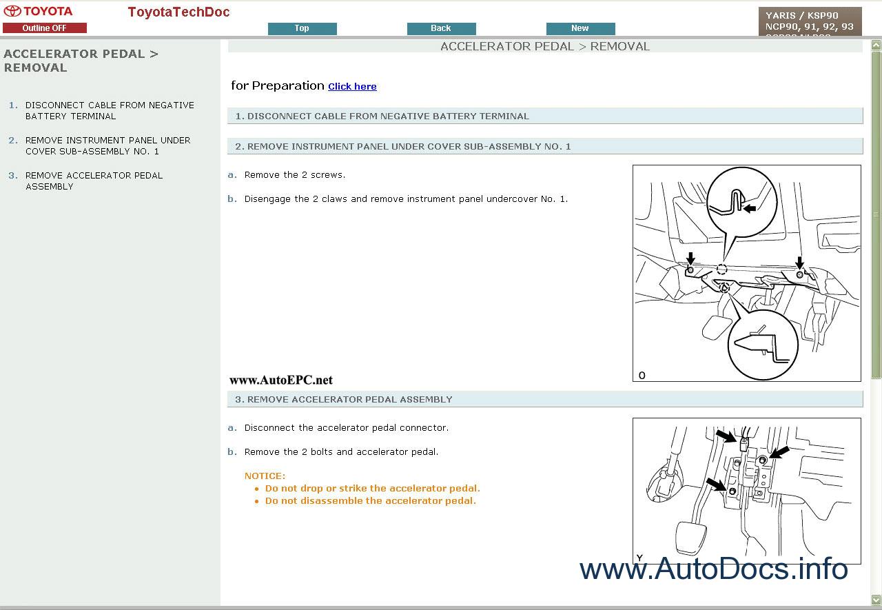 2007 toyota yaris repair manual