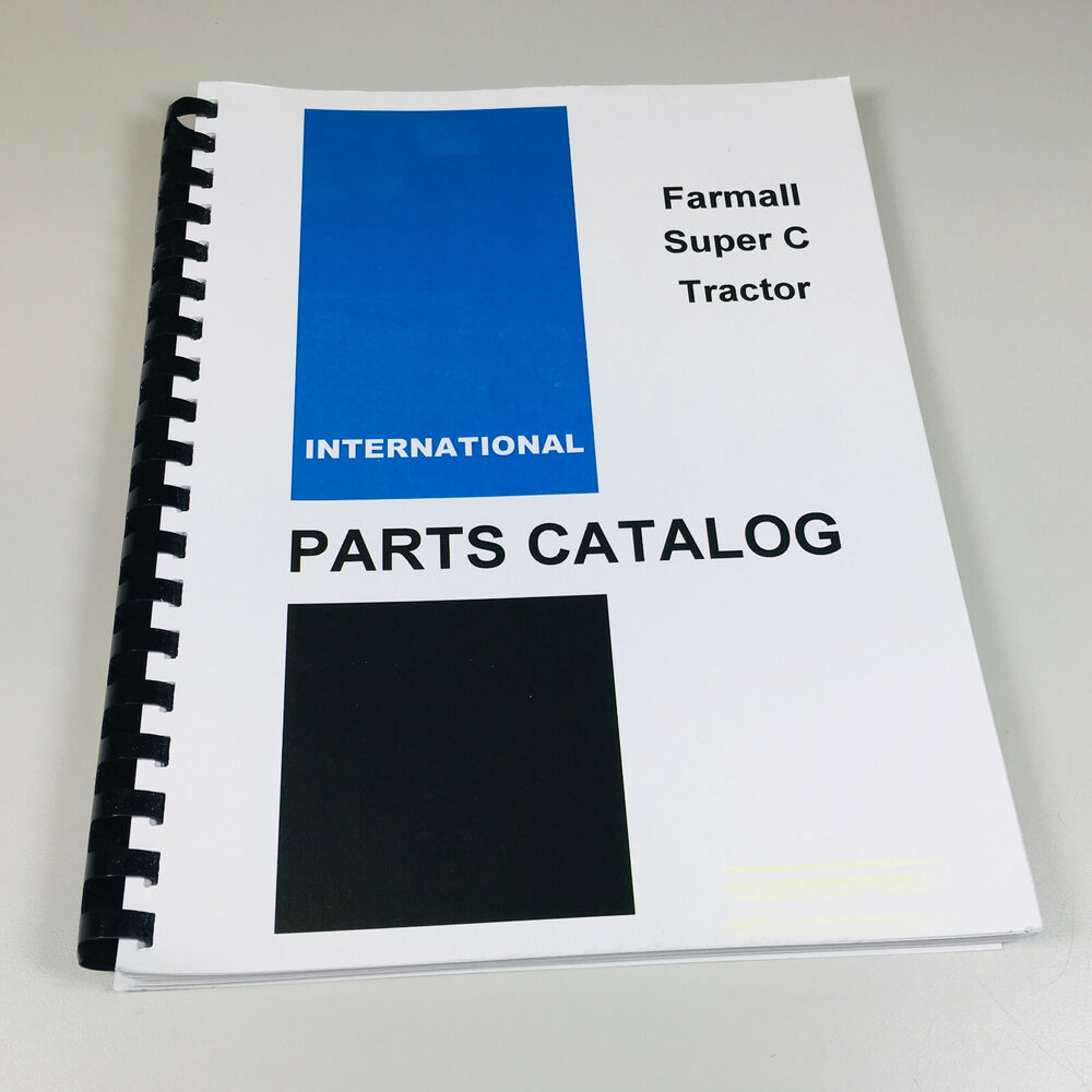 farmall super a parts manual