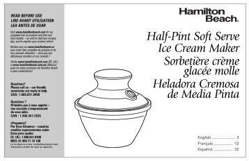 cuisinart ice cream maker instruction manual