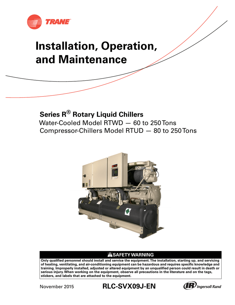 chiller operation and maintenance manual