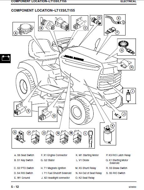 john deere lt155 parts manual