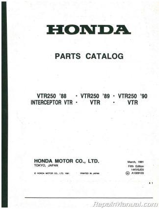 honda vtr 250 workshop manual pdf