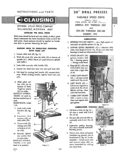 craftsman 15 drill press manual