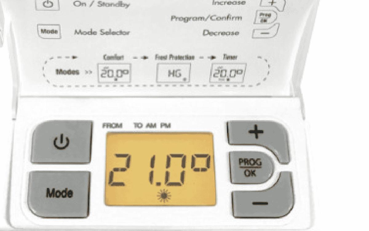 noirot 2400w panel heater manual