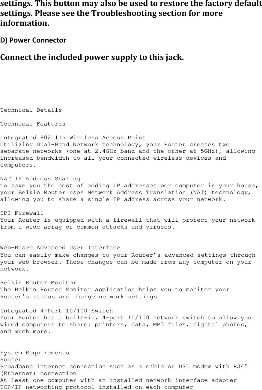 belkin wireless router manual download