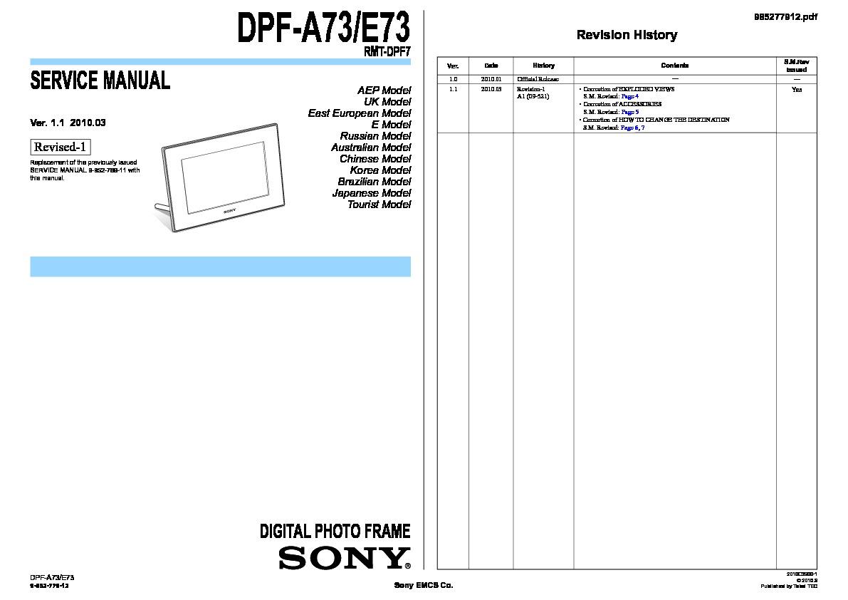 sony hdd rmt d259 manual