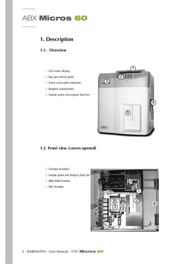 abx micros 60 user manual