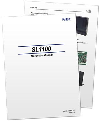 nec sl1100 phone system manual