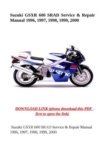 suzuki gsxr 600 srad service manual free download