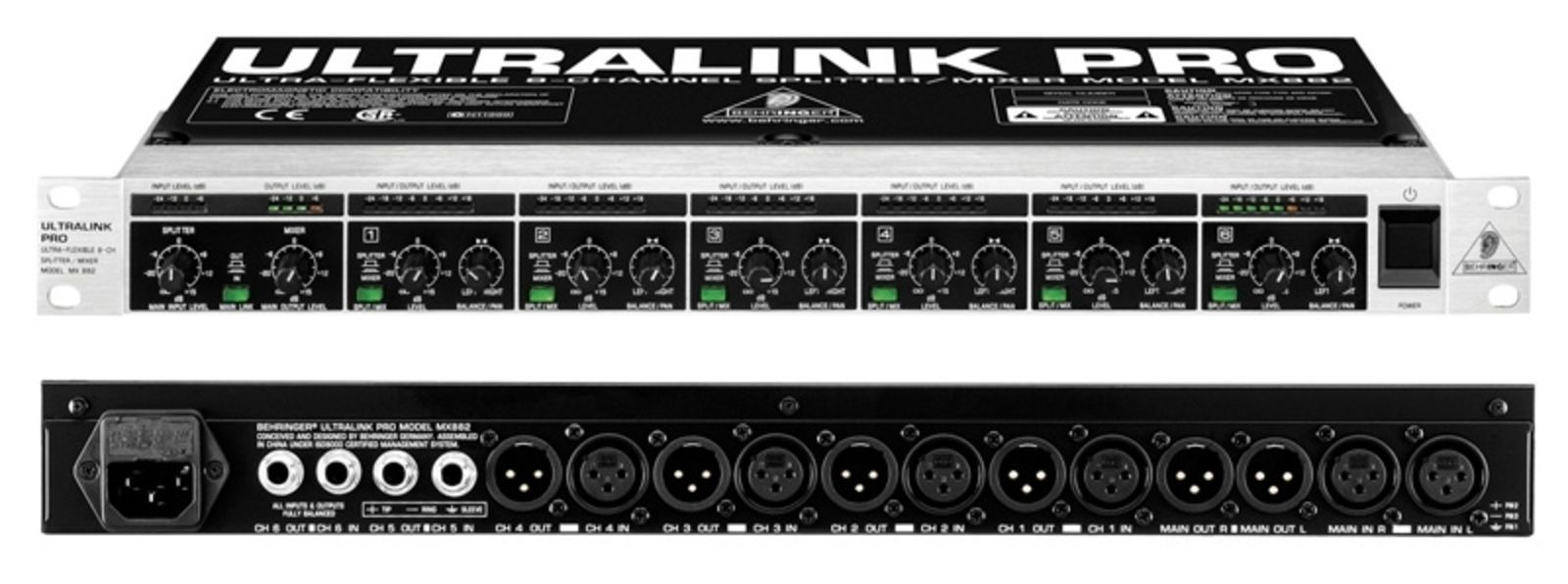behringer ultralink pro mx882 manual