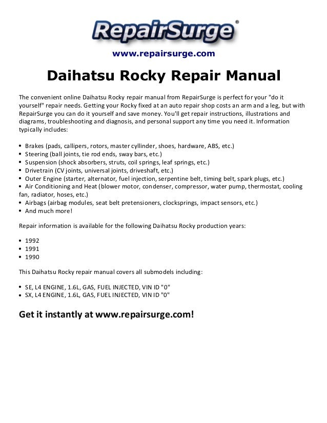 daihatsu mira repair manual pdf