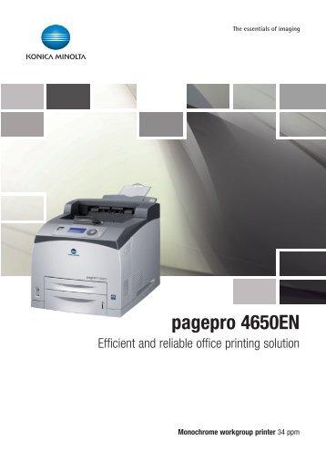 konica minolta pagepro 4650en manual