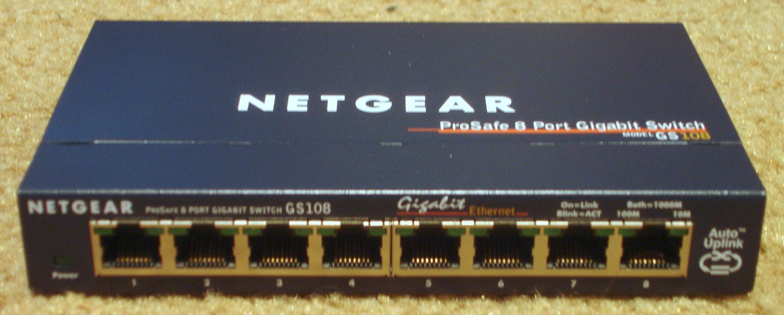 netgear prosafe 8 port gigabit switch gs108 manual