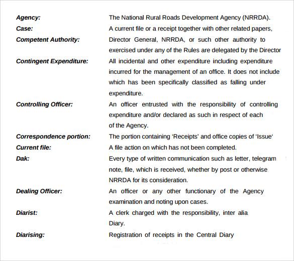 sample administrative office procedures manual