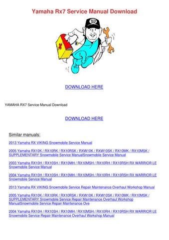 yamaha rx v471 service manual