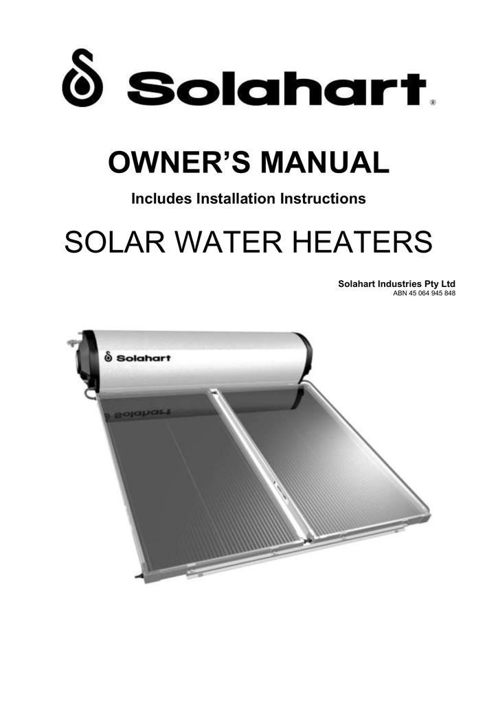hills solar hot water manual
