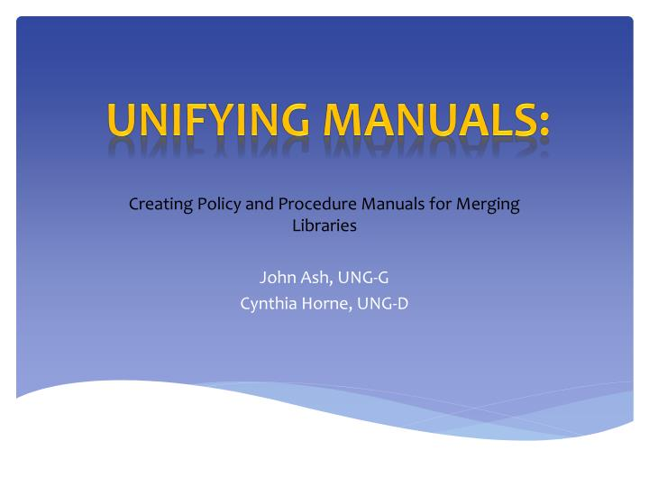 library policy and procedure manual