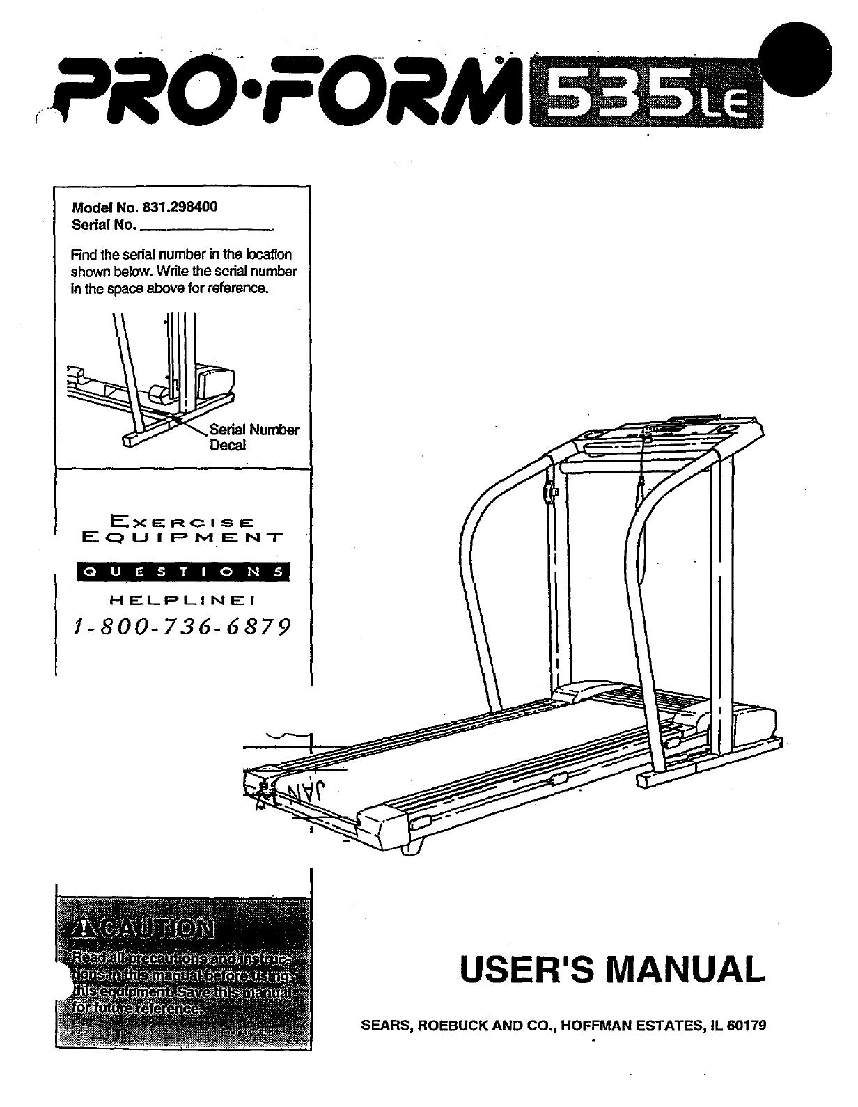 pro fitness treadmill manual instructions
