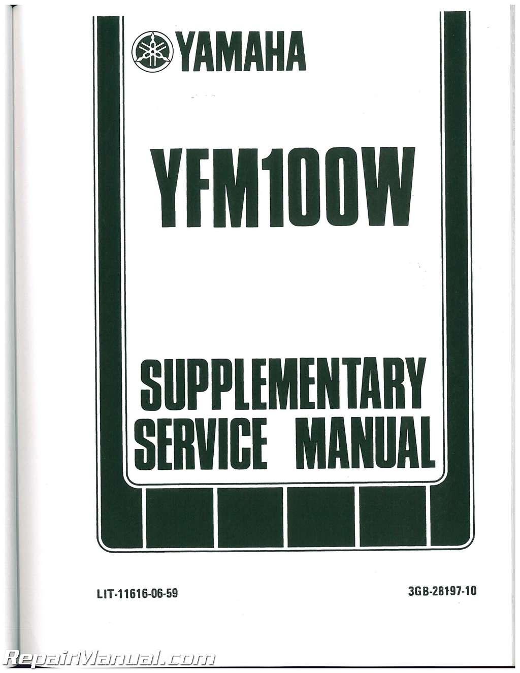 yamaha ag 100 service manual