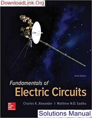 fundamentals of electric circuits 5th edition solutions manual pdf download