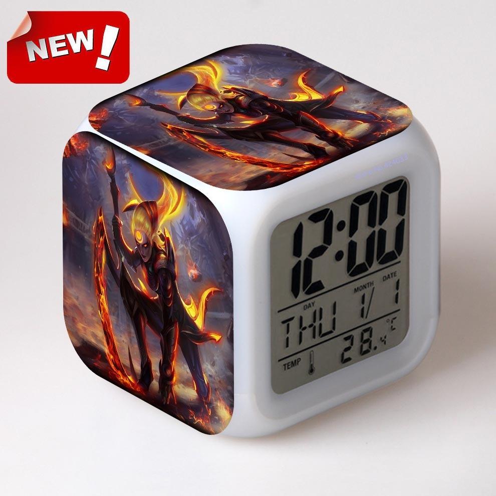 glowing led color change digital alarm clock manual