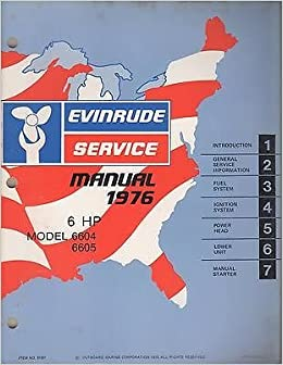 evinrude 6hp outboard motor manual