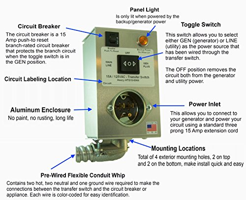 manual changeover switch box for generator
