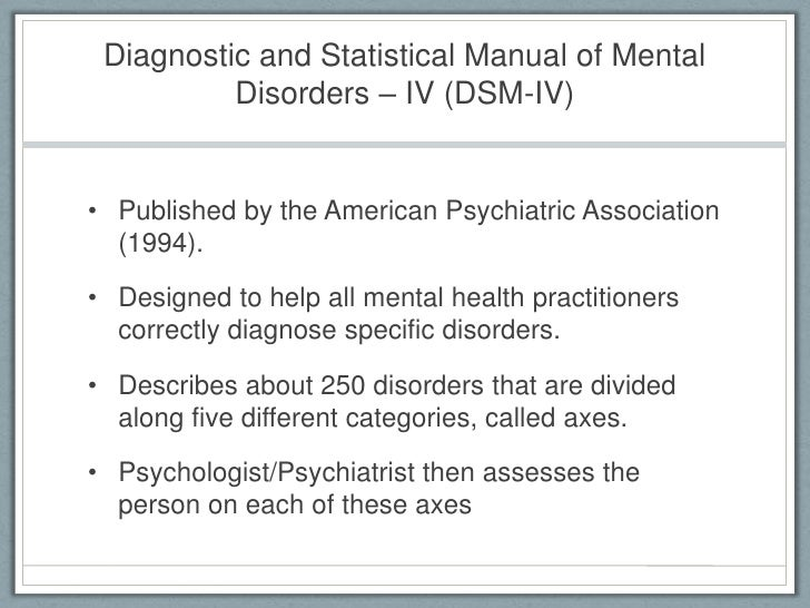 diagnostic and statistical manual of mental disorders dsm