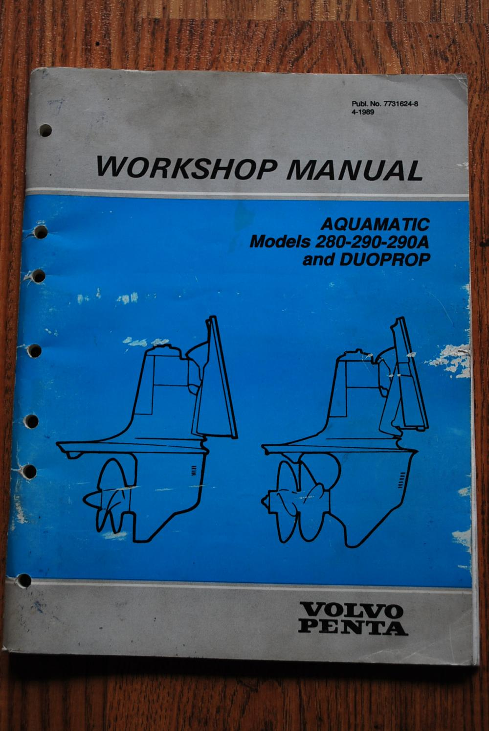 volvo penta 280 outdrive service manual