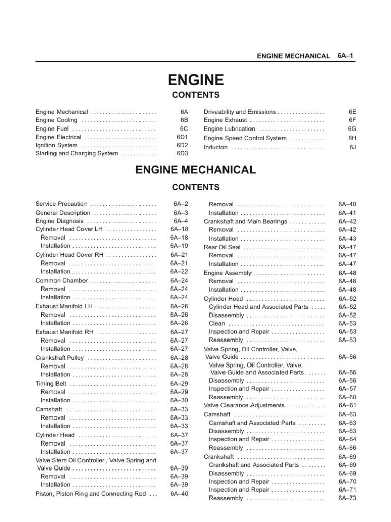 isuzu workshop manual pdf free download