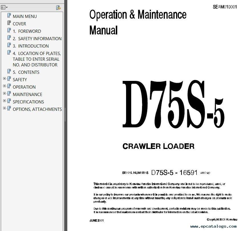 caterpillar operation and maintenance manual pdf