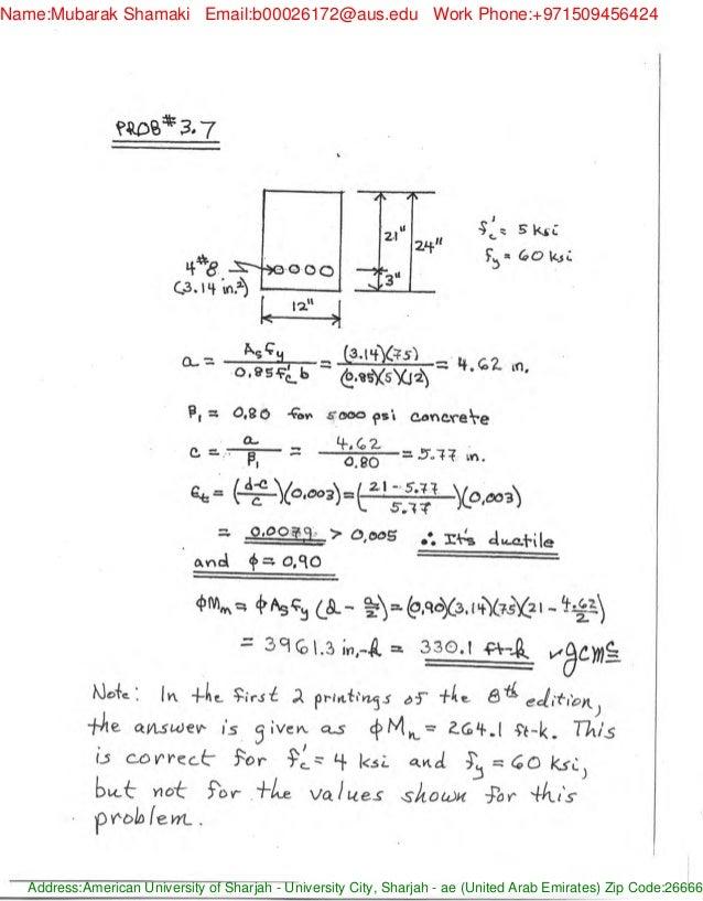 design of reinforced concrete jack c mccormac solution manual pdf