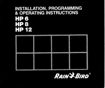 rain bird esp me controller manual