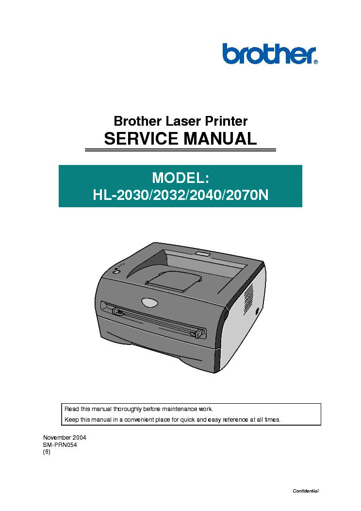 brother hl 2070n service manual