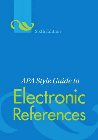 apa manual 6th edition online