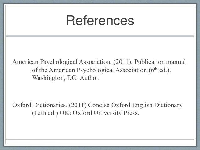 apa publication manual 6th ed