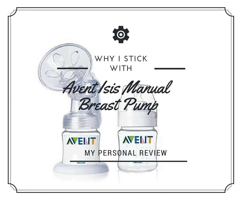 avent isis manual breast pump