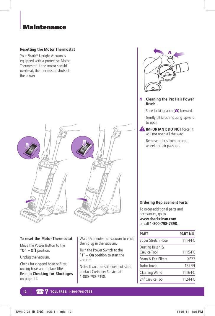 shark rotator lift away manual