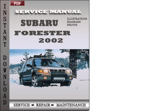 subaru forester factory service manual