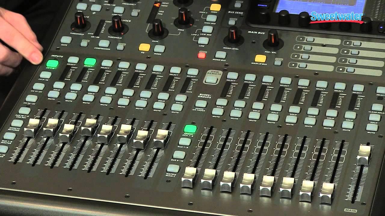 behringer digital mixer x32 manual